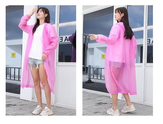 Áo mưa chất liệu EVA siêu nhẹ, siêu chống thấm - Giao màu ngẫu nhiên