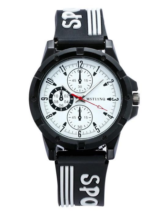 Đồng hồ nam nữ Mstianq dây cao su cao cấp kiểu dáng thể thao