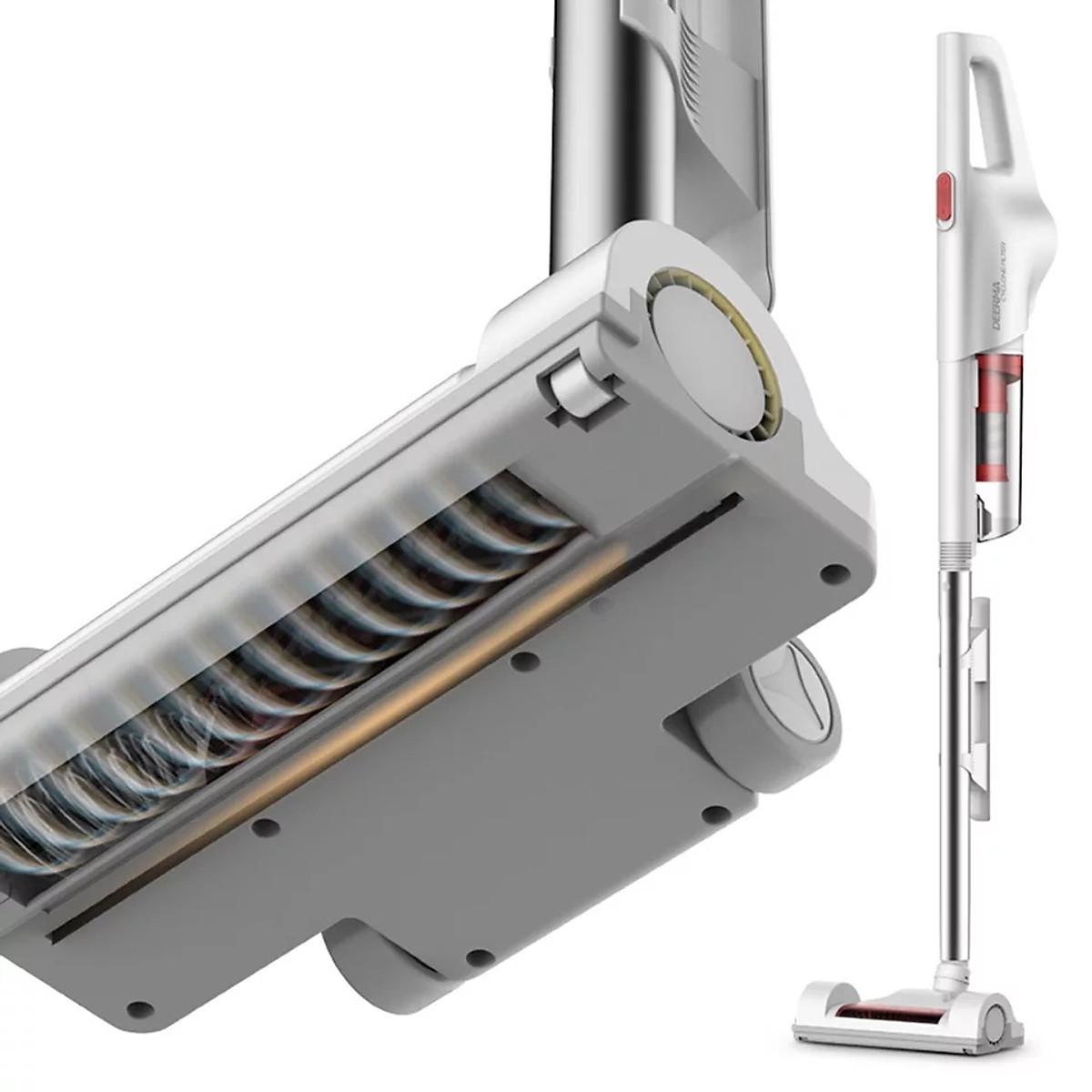 Máy Hút Bụi Gia Đình Deerma DX600S công suất lớn 600 W, Công nghệ Lốc Xoáy Mạnh Mẽ - Hàng Chính Hãng.