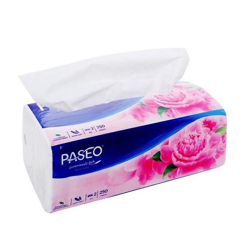Combo 4 gói khăn giấy thếp Paseo 2 lớp ( 250 tờ / gói )
