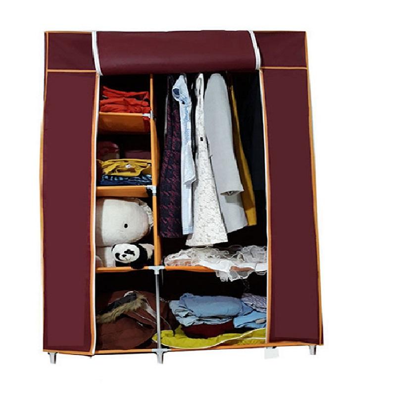 Tủ vải 2 buồng 6 ngăn  cao cấp chứa quần áo do Việt Nam sản xuất