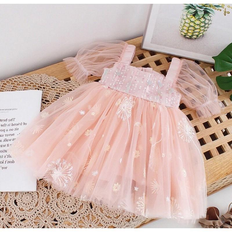 Váy Đầm Công Chúa Kim Sa Bé Gái