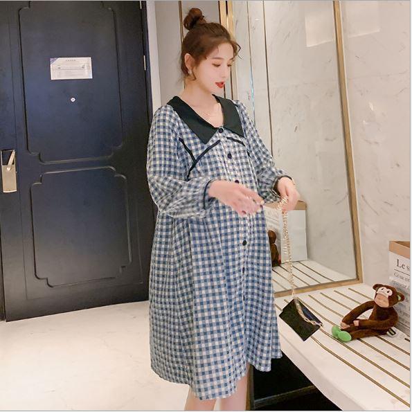 Váy Bầu, Đầm Bầu Công Sở, Dự Tiệc Azuno AZ1010 Chất Liệu Thô Đũi Cao Cấp