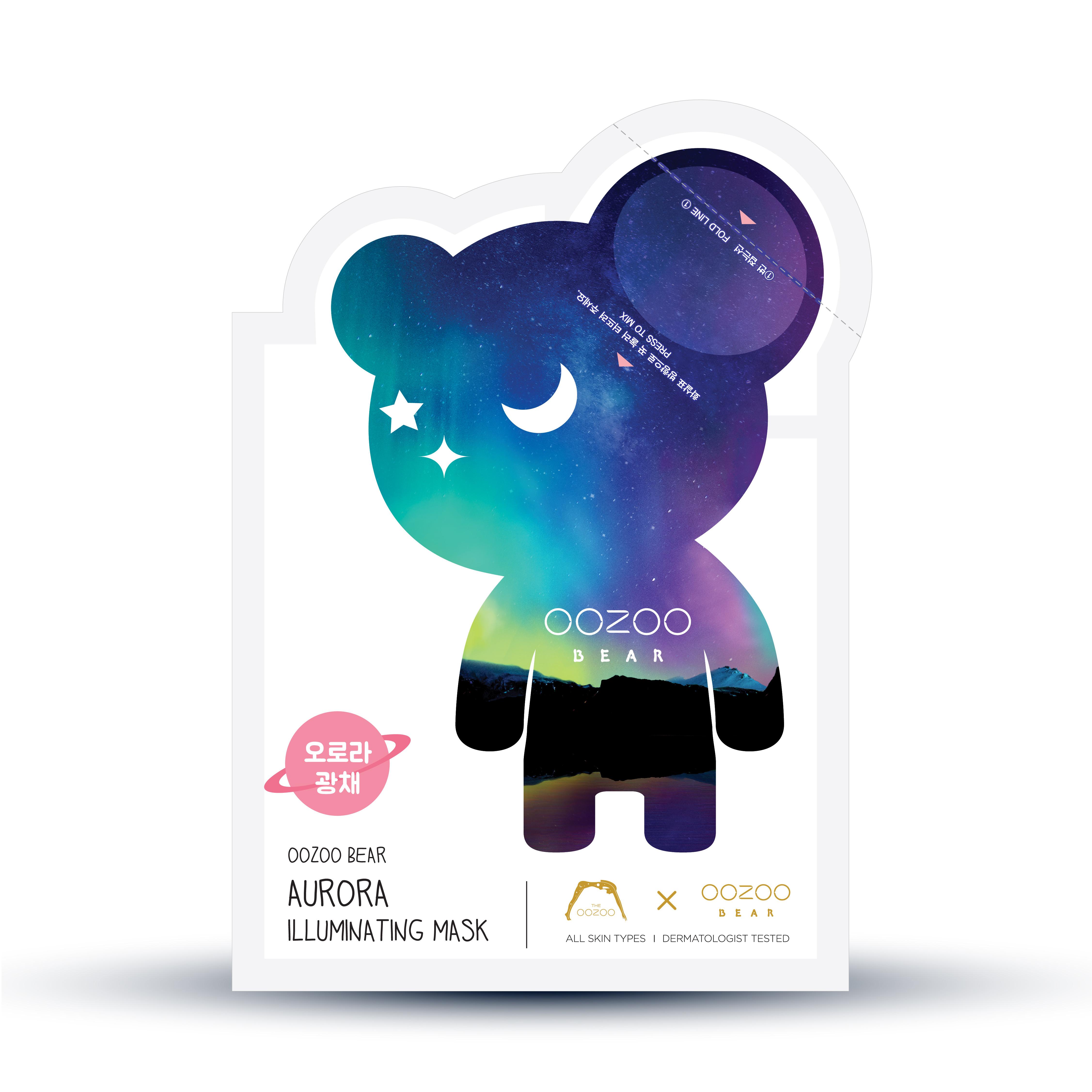 Mặt Nạ Dưỡng Da Hàn Quốc Tinh Chất Tươi Tai Gấu THE OOZOO Aurora Illuminating