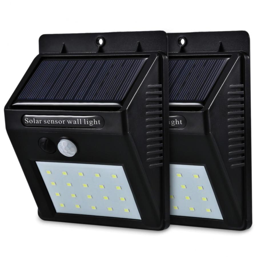 Combo 2 Đèn LED năng lượng mặt trời cảm biến chuyển động - Chống nước tuyệt đối