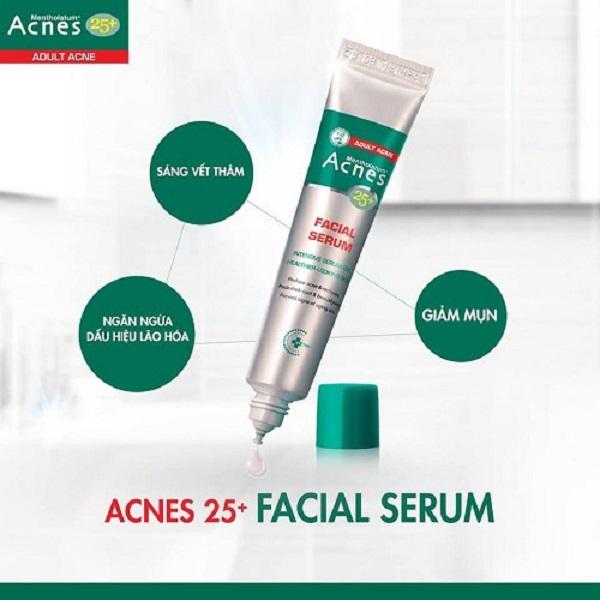 Tinh Chất Chuyên Biệt Cho Da Mụn Tuổi Trưởng Thành Acnes 25+ Facial Serum ( 20ml) + Gel Rửa Mặt Acnes 25+ Facial Wash (25g) | Tiki.vn