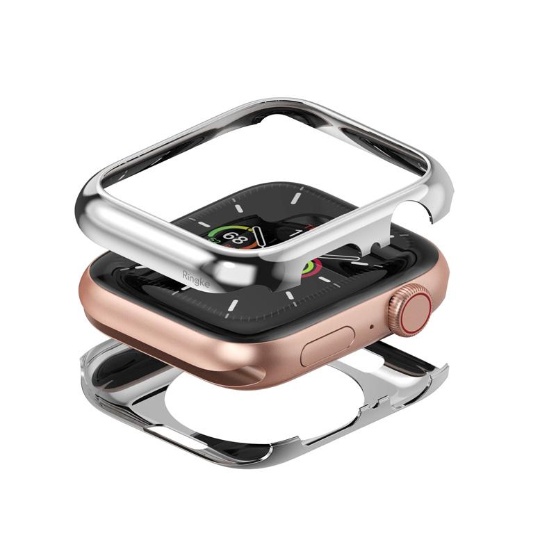 Ốp dành cho Apple Watch 6/SE/5/4 44mm RINGKE Full Frame Stylings Stainless - Hàng Chính Hãng