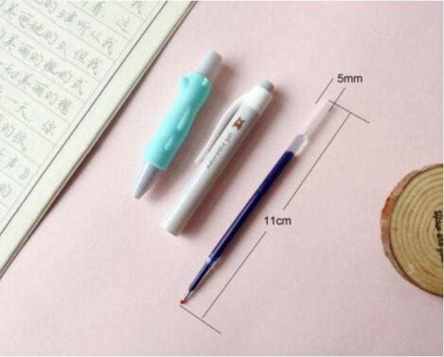 Bút nước M&G ngòi 0.5mm mực xanh chỗ tay cầm có hình Gấu-AGPH9602B-1 cây