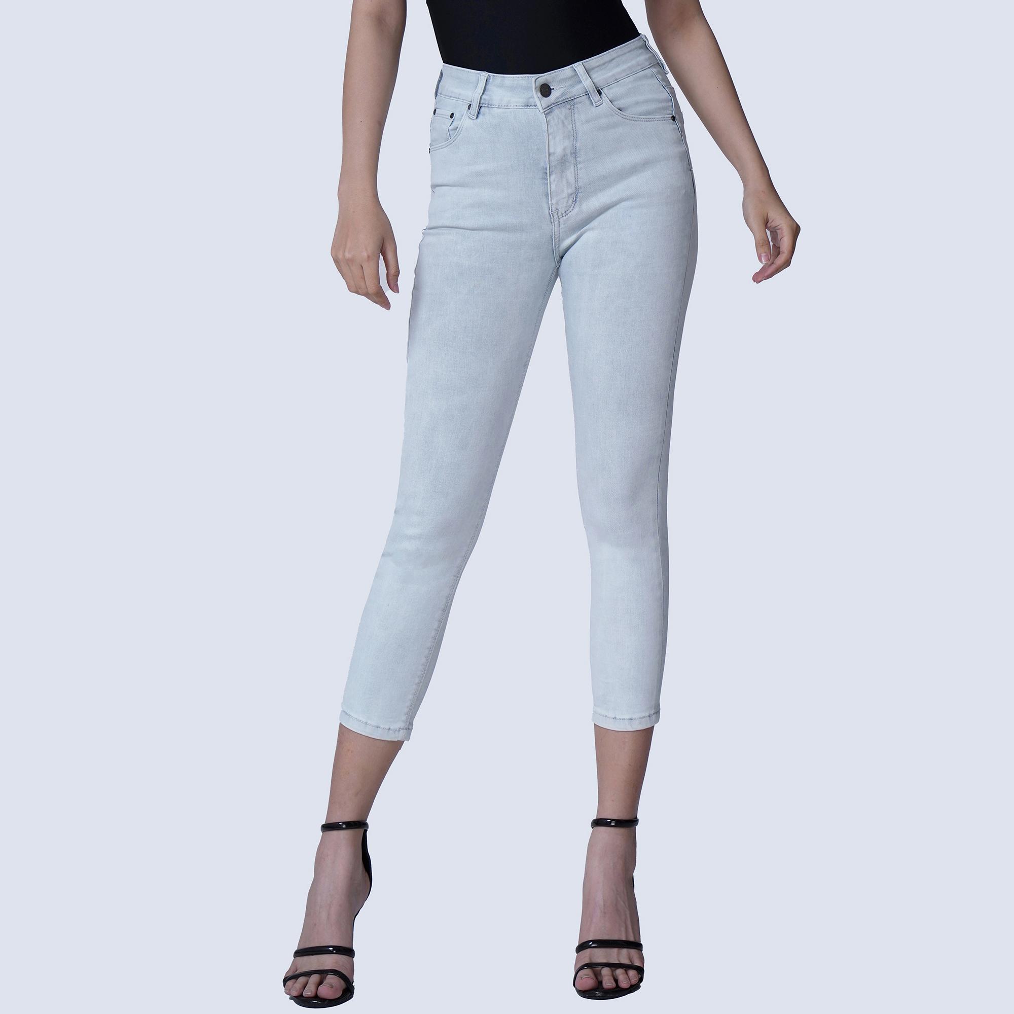 Quần Jean Nữ Lửng Aaa Jeans Skinny Lưng Cao Nhiều Màu
