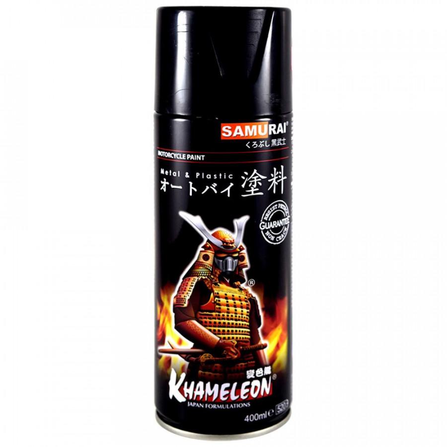 Chai sơn xịt Samurai Kurobushi 109 màu đen bóng 400ml