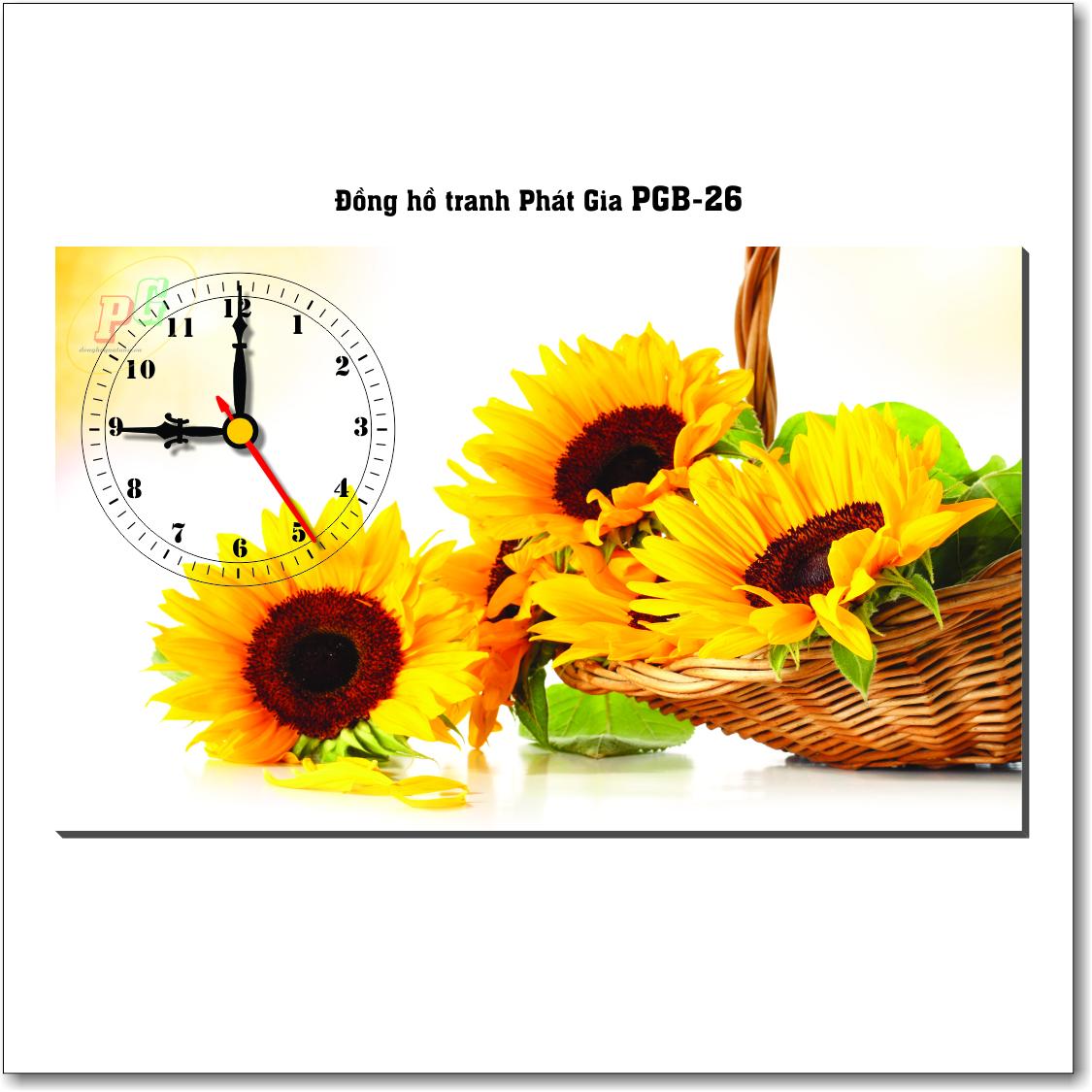 Đồng hồ tranh để bàn PGB-26