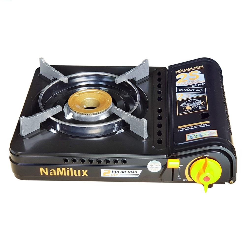 Bếp ga mini chống nổ 2 van Namilux, màu mẫu ngẫu nhiên-Hàng chính hãng