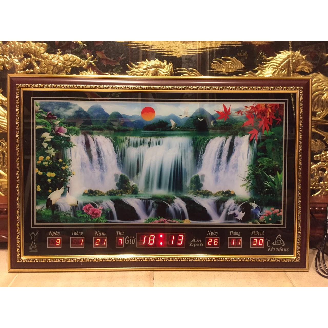 Tranh đồng hồ điện vạn niên - Suối chảy - 68553