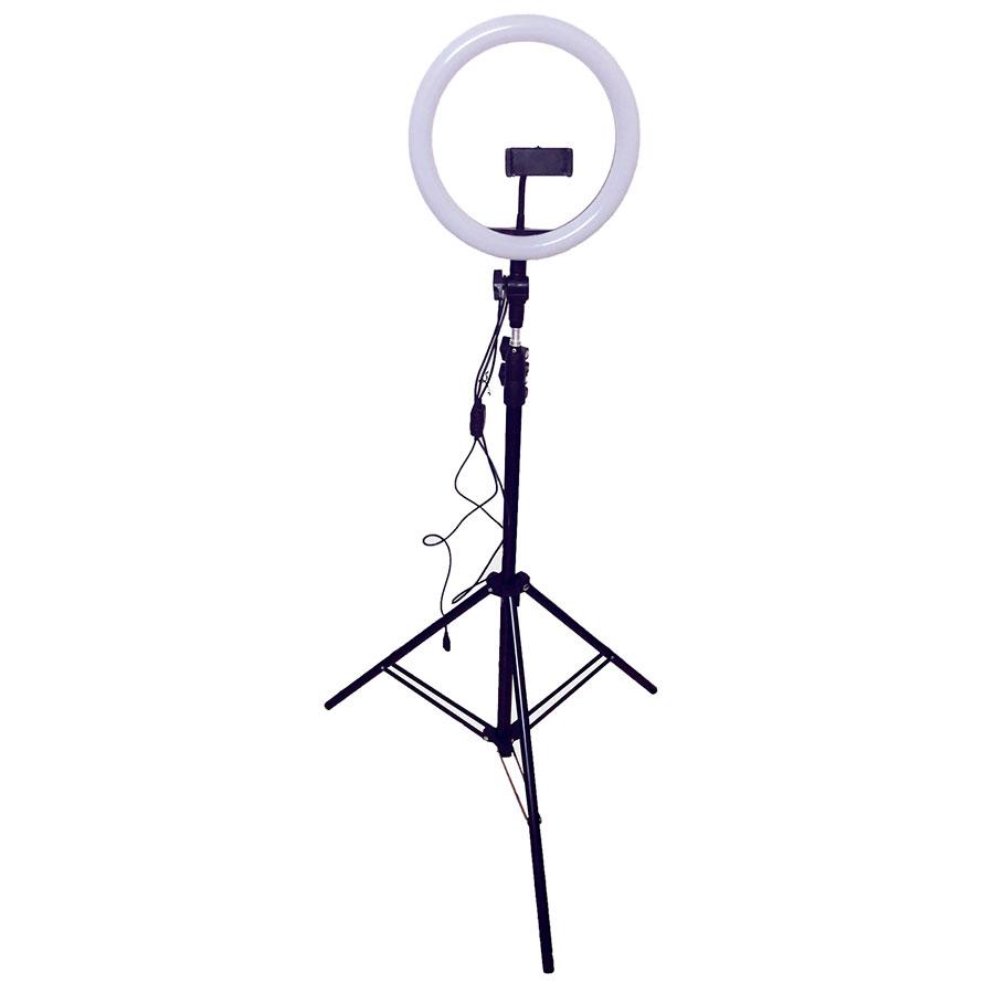 Đèn Led tròn LiveStream Ø 26CM - Trang điểm - Chụp ảnh - Xăm nghệ thuật - SIêu sáng - Có nút chỉnh 3 chế độ sáng