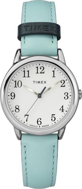 Đồng hồ Nữ Timex Women's Easy Reader Blue Leather Strap Watch TW2R62900MK - 30mm