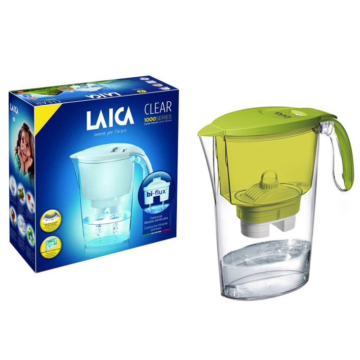 Combo Bình lọc nước LAICA J11A Xanh lá và 02 Lõi lọc nước  (MADE IN ITALY)