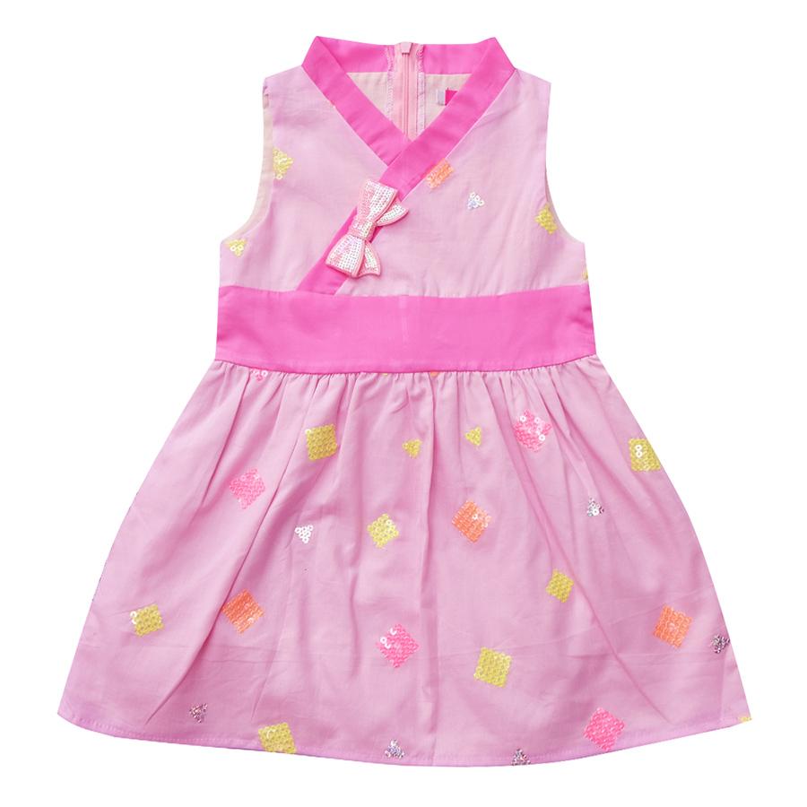 Đầm CucKeo Kids Hanbok Cách Điệu Hồng - T81930