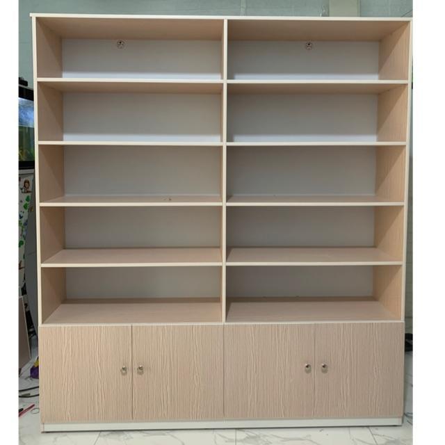 Kệ trưng bày sản phẩm,kệ sách 1m64x2m vân gỗ(TPHCM)