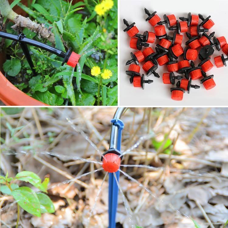 Hệ Thống Tưới Nhỏ Giọt Phun 8 Tia Cho Chậu Cây, Sân Vườn