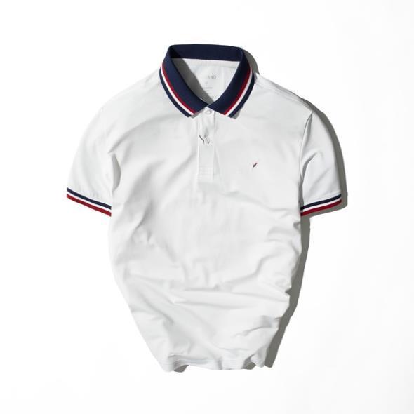 Áo polo coolmax phối cổ dệt màu, thêu logo thương hiệu TORANO TP107