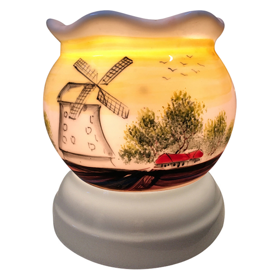 Đèn Xông Tinh Dầu Gốm AH13 (Size L) + Tặng Kèm 1 Bóng Đèn