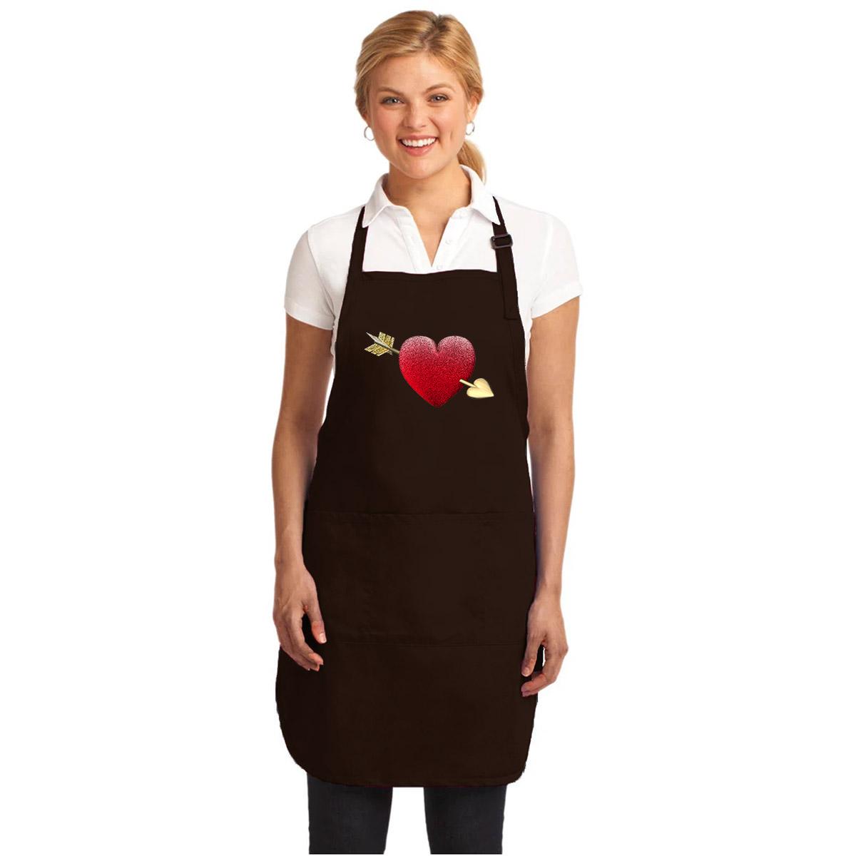 Tạp Dề Làm Bếp In Hình Valentine Mũi Tên Tình Yêu - Mẫu008