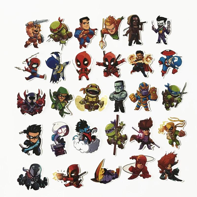 Decal trang trí các nhân vật hoạt hình sticker Siêu Anh Hùng - Hàng Chính Hãng
