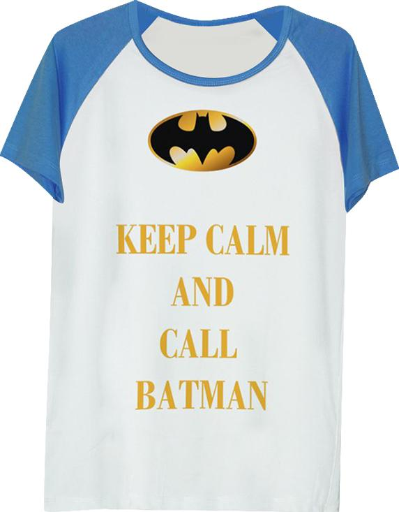 Áo Thun Unisex In Hình Keep Calm And Call Batman - ATFF271 - Xanh Size S