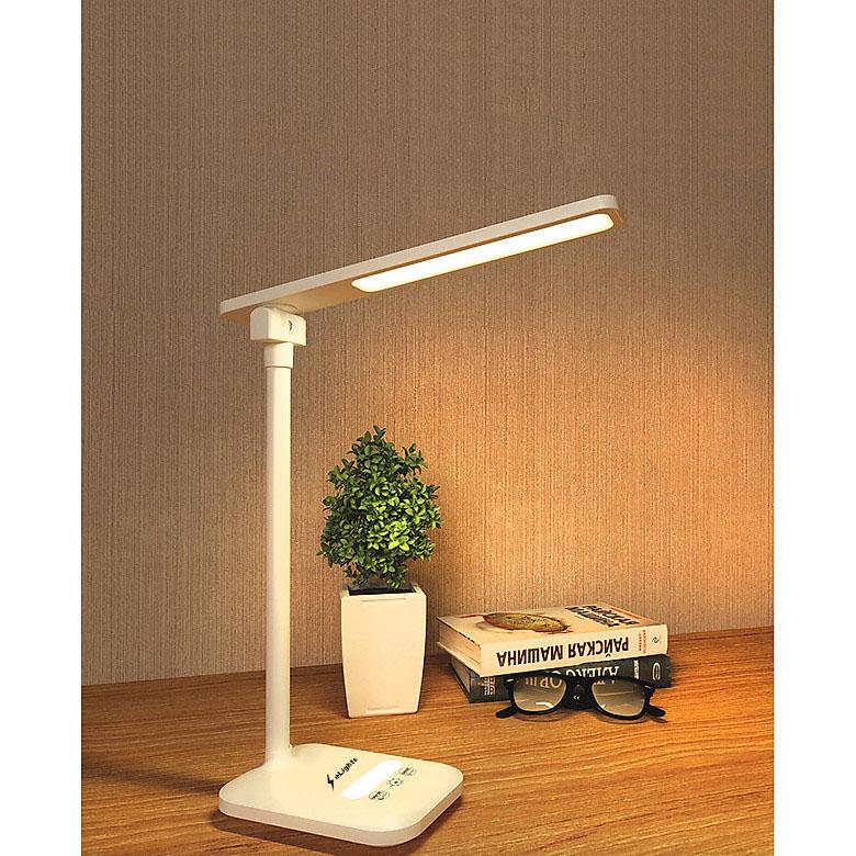 Đèn Bàn Học Đọc Sách, Làm Việc (Học Sinh, Sinh Viên, Văn Phòng) LED Chống Cận, Cảm Ứng Tích Điện Pin 3200mAh eLights TD-618