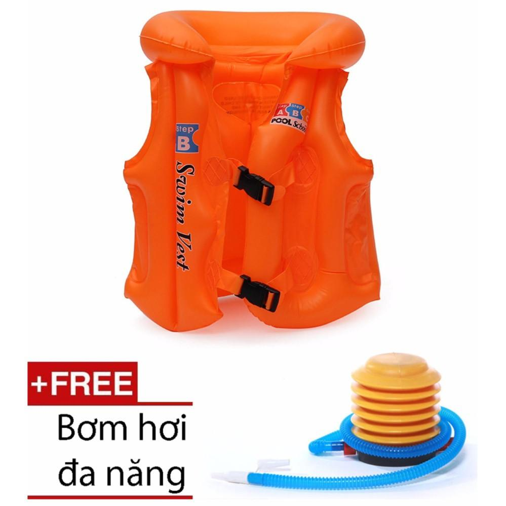 Áo phao tập bơi cho bé (Size S) + 1 Bơm hơi cỡ lớn