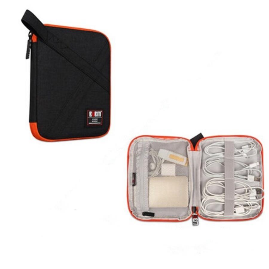 Túi đựng phụ kiện công nghệ chuyên dụng BUBM có quai đa năng nhiều ngăn đựng dây cáp sạc, pin dự phòng nhiều size - Hàng chính hãng