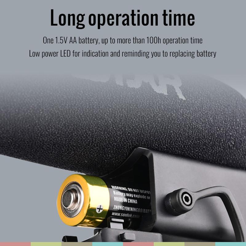 Micro Shotgun Cho Máy Ảnh, Máy Quay, Camcorder, Dslr Chuyên Nghiệp, Chống Shock, Giảm Tiếng Ồn, Điều Khiển Âm Lượng Takstar SGC-600 - Hàng chính hãng