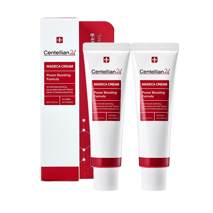 Bộ 2 tuýp Kem dưỡng trắng Centellian 24 giảm nhăn và tái tạo da (Madeca Cream Power Boosting Formula)