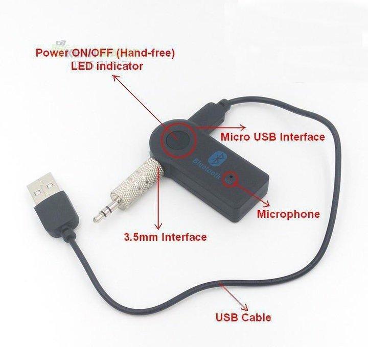 USB bluetooth music cho xe hơi biến loa thường thành loa bluetooth BTR-302