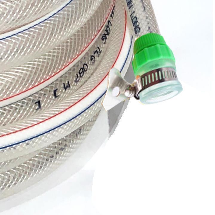 Bộ dây vòi xịt nước rửa xe, tưới cây đa năng, tăng áp 3 lần, 206318 đầu đồng, cút, nối PE
