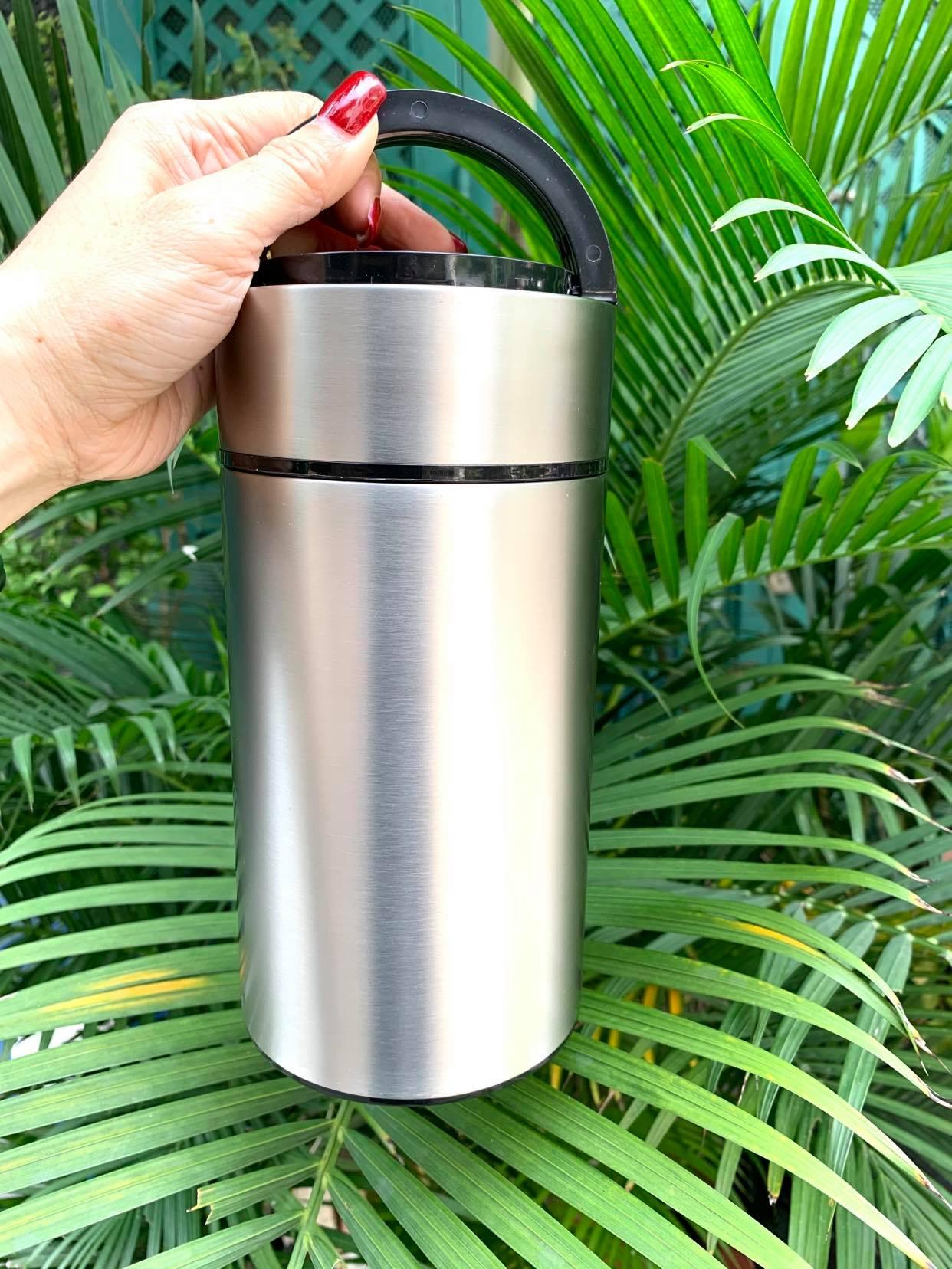 Bình ủ cháo inox 304 cao cấp 950ml màu bạc ( kèm muỗng )