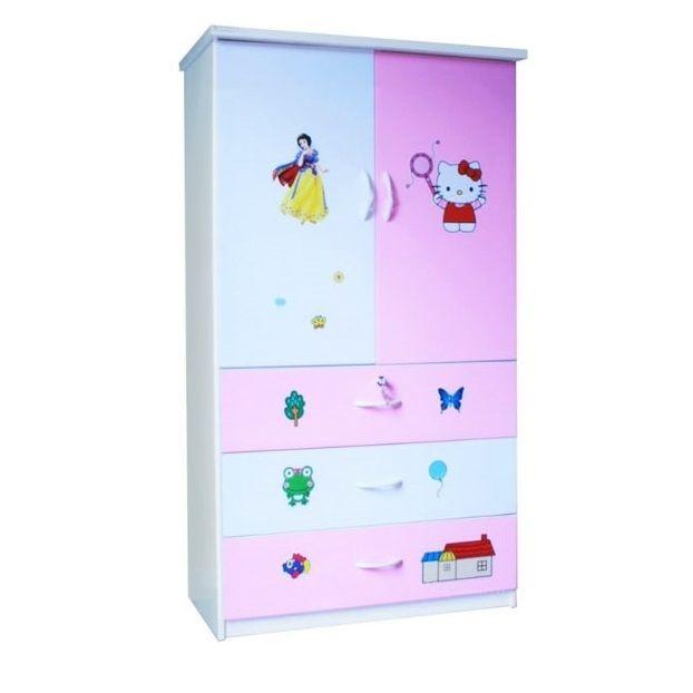 Tủ nhựa Đài Loan 2 cánh 3 ngăn T217 màu hồng