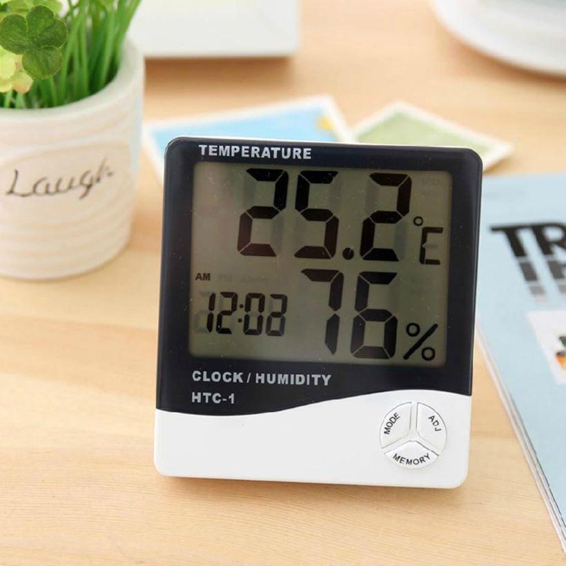 Đồng hồ đo nhiệt độ độ ẩm điện tử HTC-1