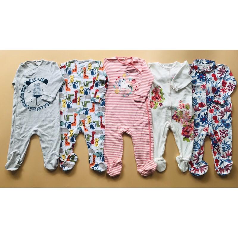 Body Trẻ Em Sleep Suit Dài Liền Vớ