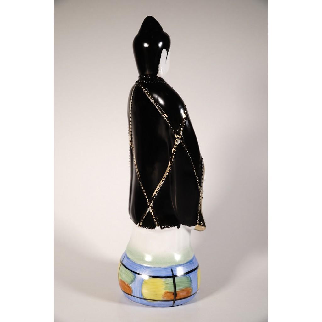 Tượng Địa Mẫu Nương Nương gốm sứ đứng vẽ màu đẹp xuất sắc - Cao 30cm