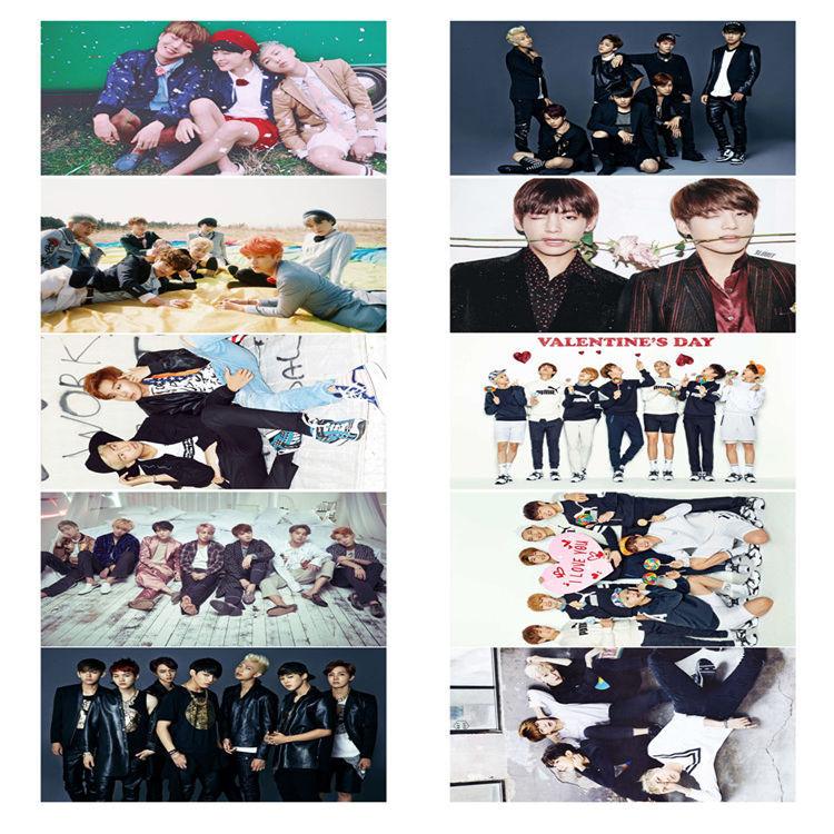 Poster Jungkook BTS 10 tấm có dán khổ A3