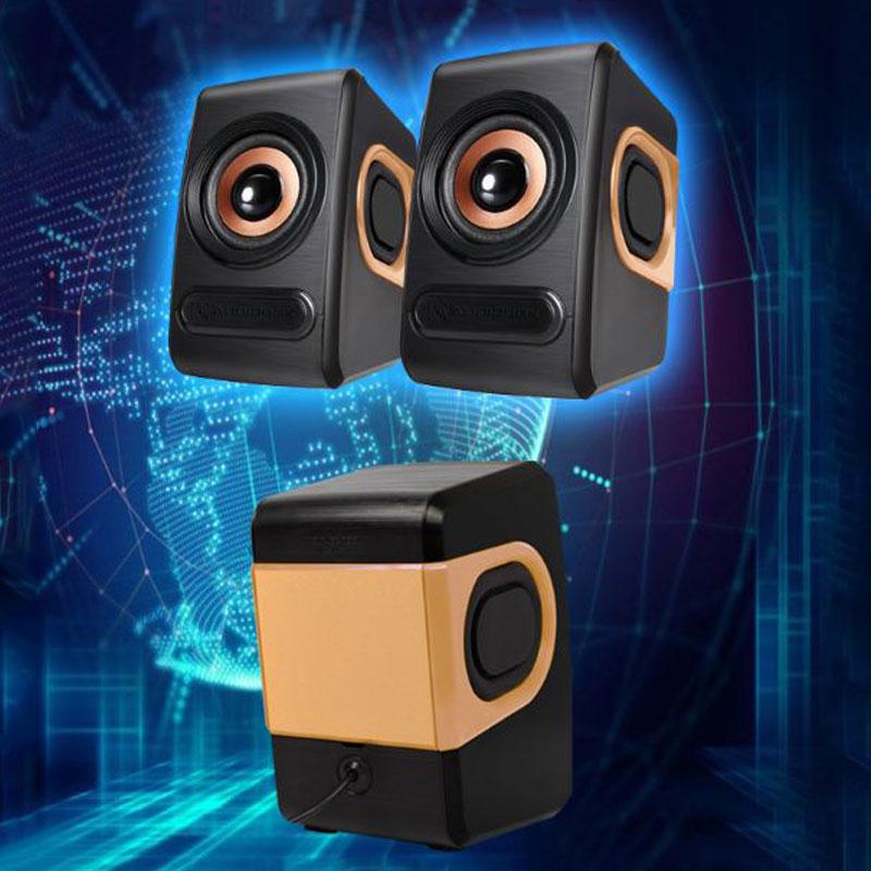 Bộ Loa Máy Tính Stereo Mini Để Bàn Cao Cấp Âm Thanh Siêu Trầm Hỗ Trợ USB 2.0
