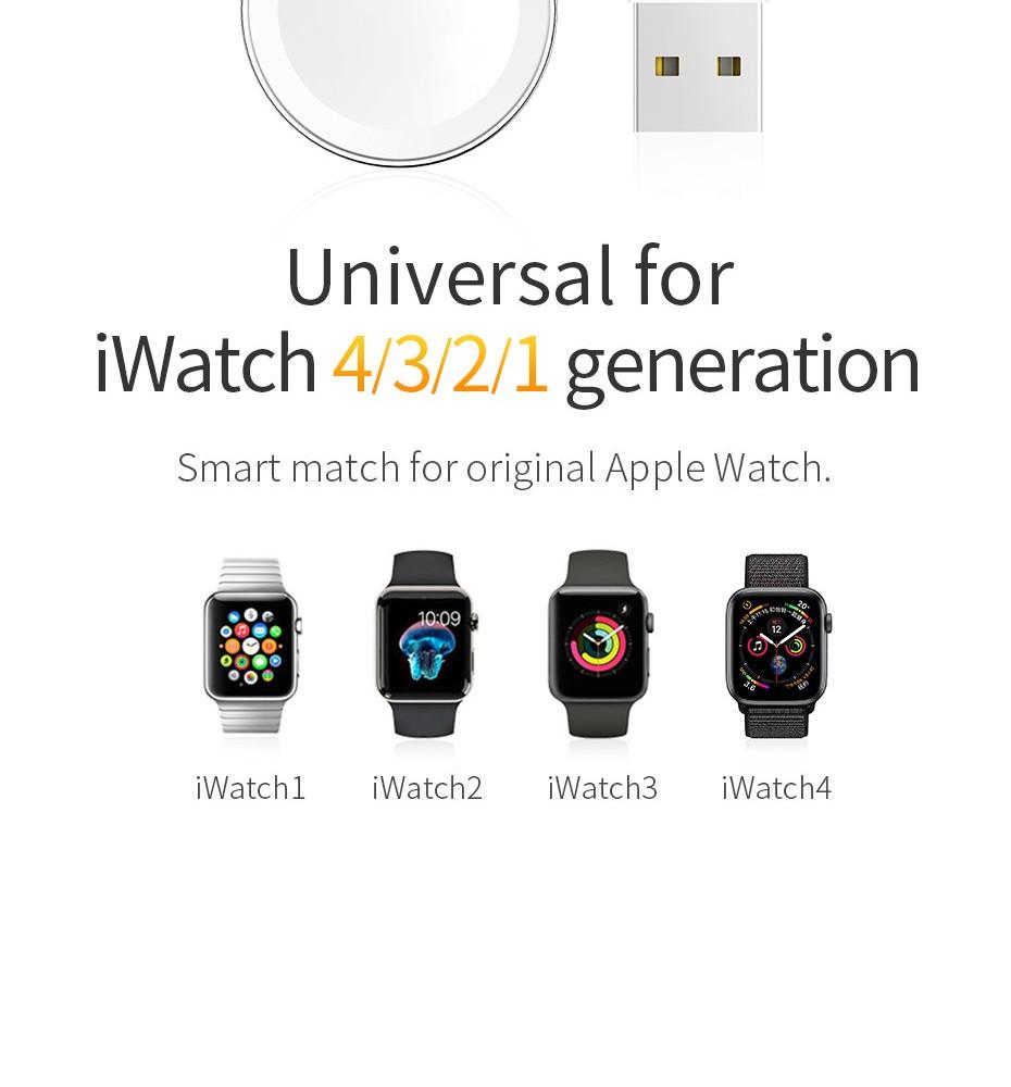 Cáp Sạc Không Dây Apple Watch Hoco CW16 Hàng Nhập Khẩu