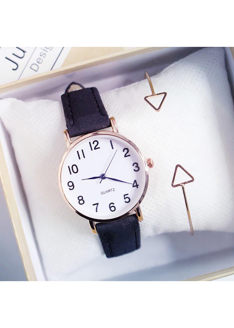 Đồng hồ thời trang nam nữ dây da unisex phong cách thanh lịch công sở ZO38