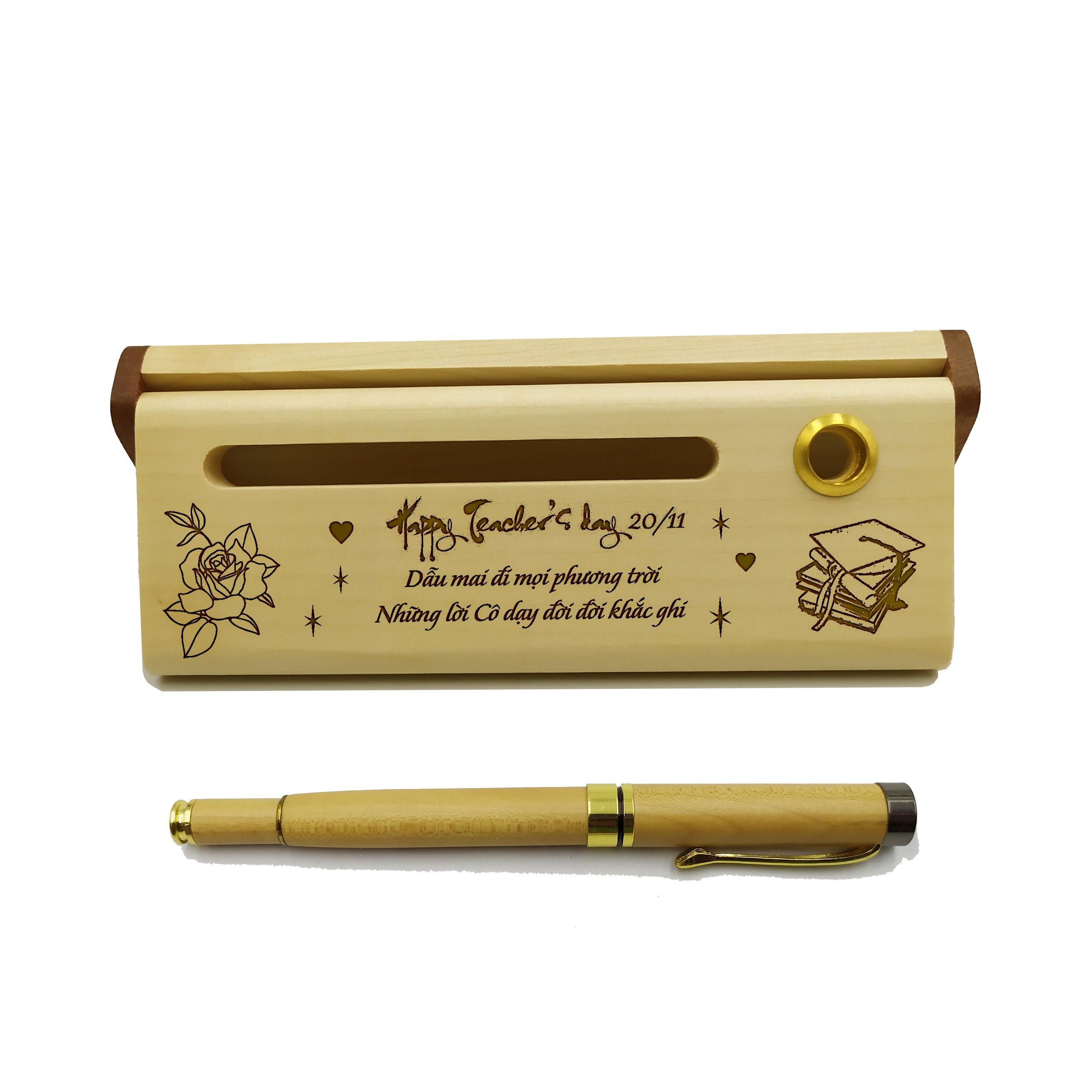 Bút gỗ cao cấp làm quà tặng ngày 20/11 (Kèm hộp đựng sang trọng)