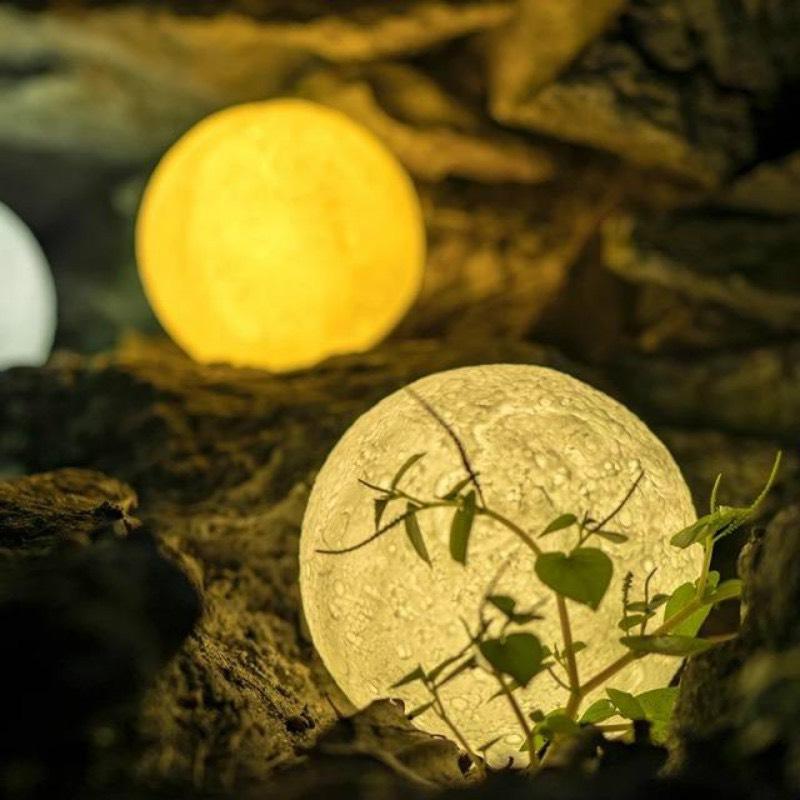 Đèn ngủ để bàn hình mặt trăng, Đèn ngủ trang trí hình mặt trăng