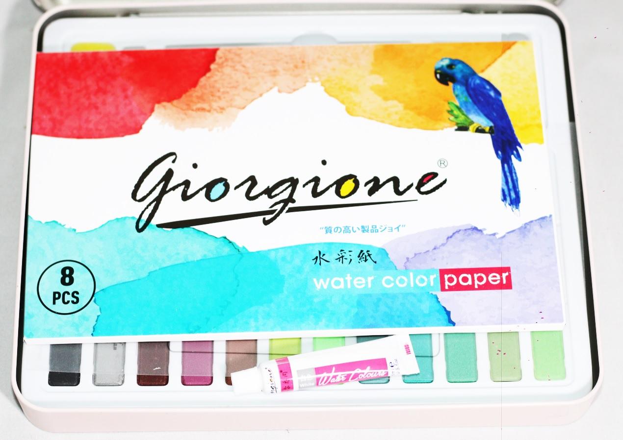 Bộ 36 Màu Nước Vẽ Cao Cấp Giorgione - Hộp Hồng (Phiên Bản Mới)
