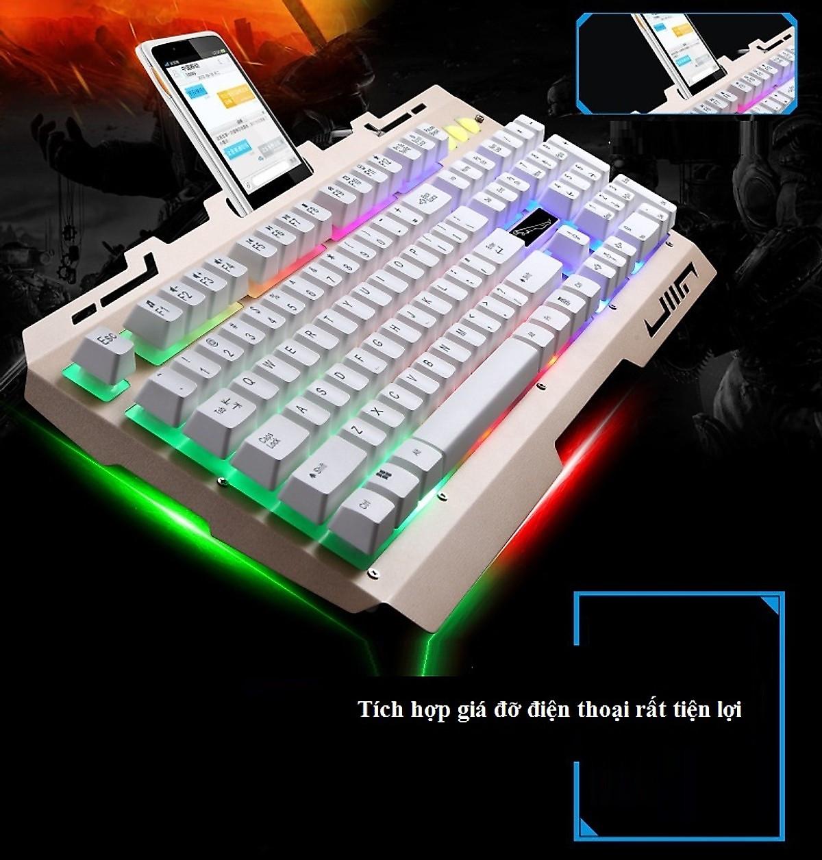 Bàn phím chơi game g700 màu trắng