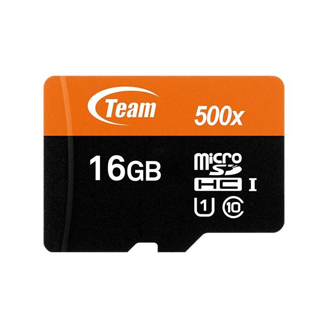 Thẻ nhớ 16gb micro SDHC UHS-1 Team Adapter (cam) – Hàng Chính Hãng