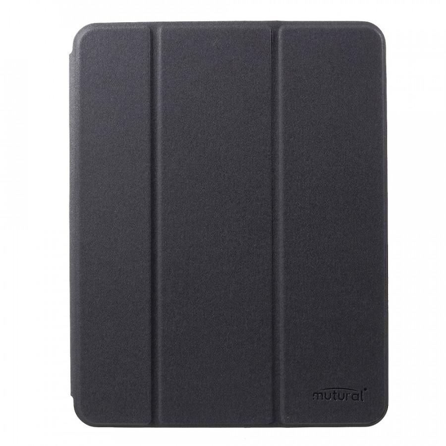 Bao da iPad pro 11 inh 2018 hiệu Mutural có khay để bút Màu đen hàng nhập khẩu